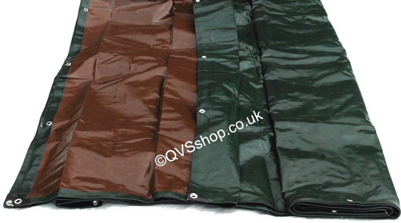 Heavy Duty Tarpaulins Green Amp Brown Boat Amp Roof Cover